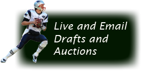 Live drafts, email drafts, live auctions, email auctions